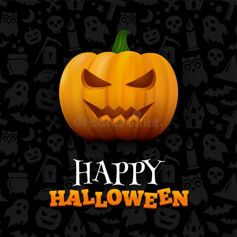 Fond heureux de vecteur de Halloween illustration stock