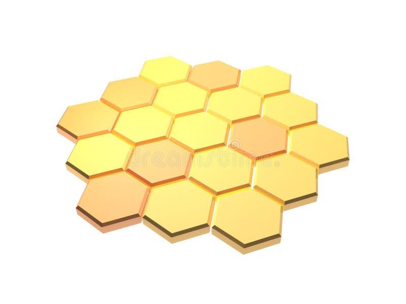 Fond hexagonal illustration de vecteur