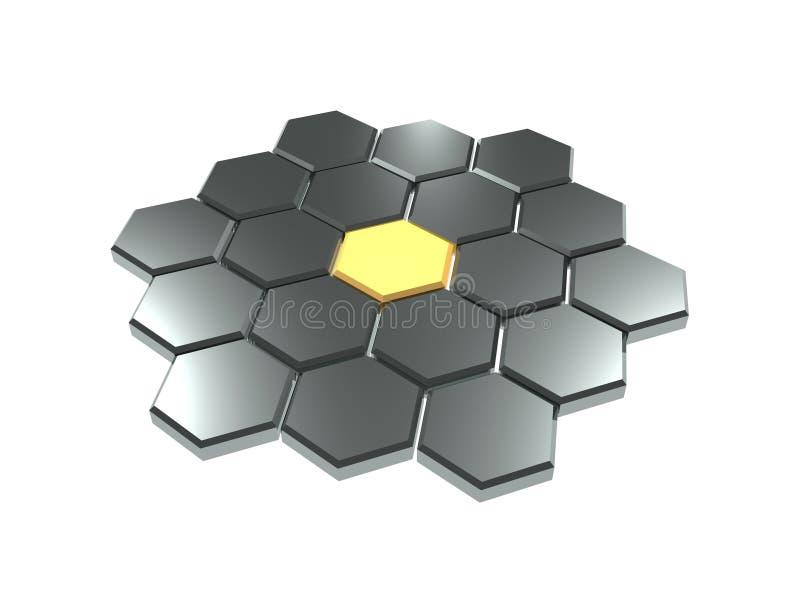 Fond hexagonal illustration libre de droits