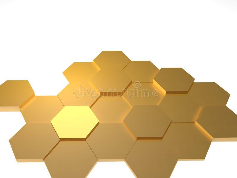 Fond hexagonal illustration stock