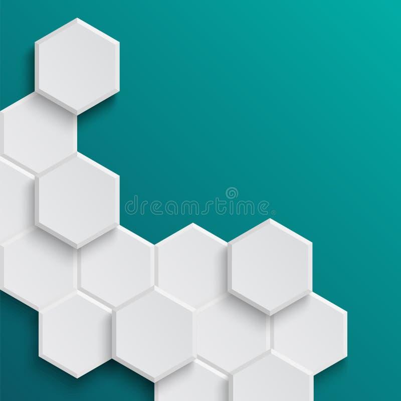 Fond hexagonal abstrait illustration libre de droits