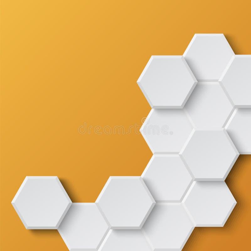 Fond hexagonal abstrait illustration stock
