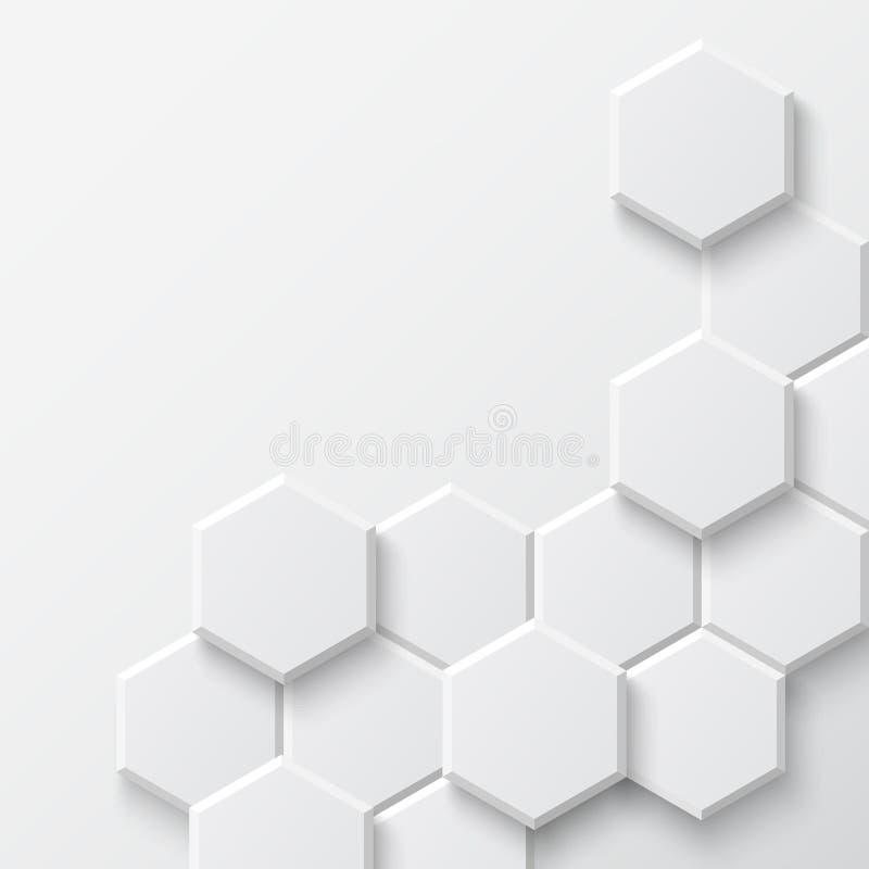 Fond hexagonal abstrait illustration de vecteur