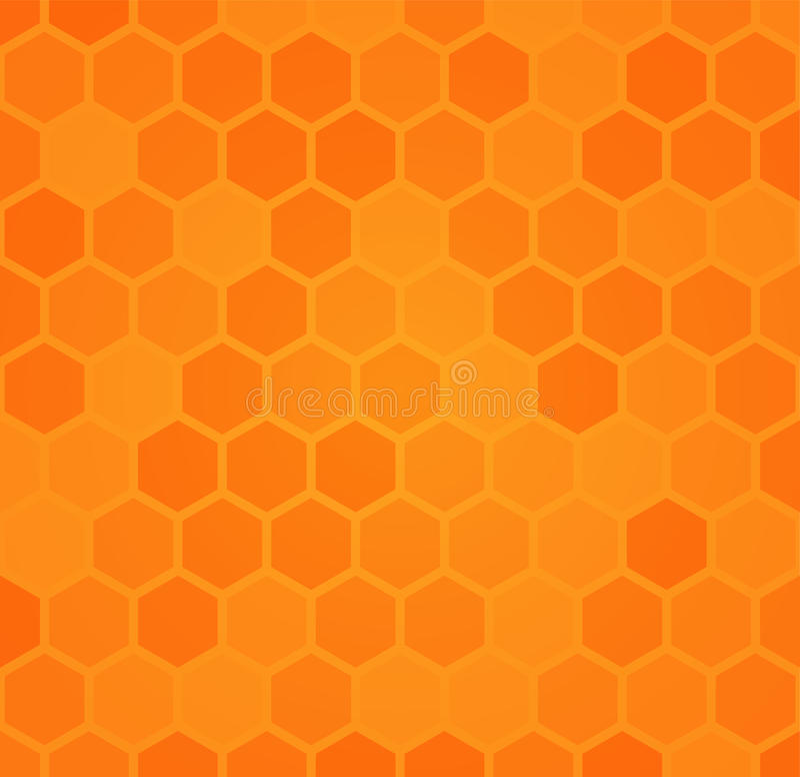 Fond hexagonal abstrait de nid d'abeilles illustration stock