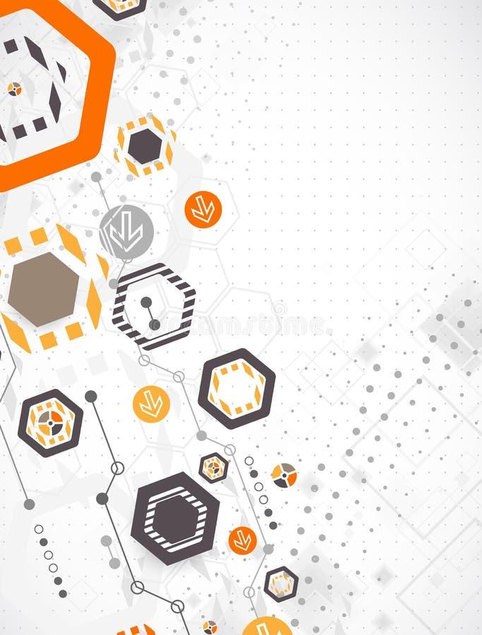 Fond hexagonal d'affaires de nouvelle technologie illustration stock
