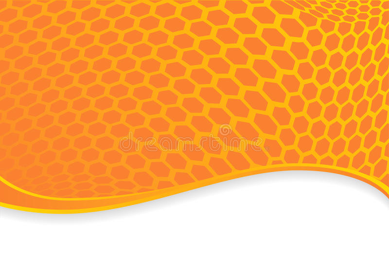 Fond hexagonal orange illustration stock