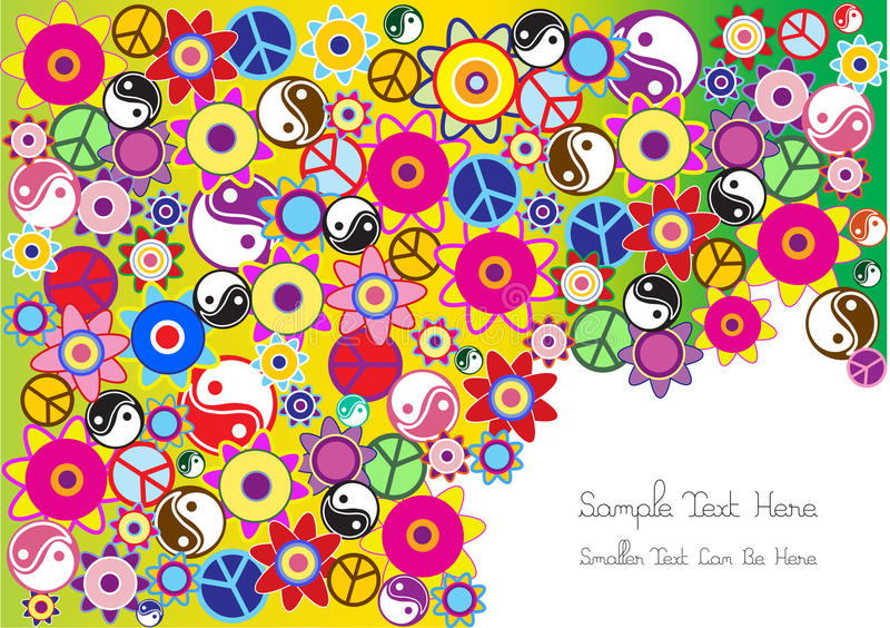 Fond hippie illustration libre de droits
