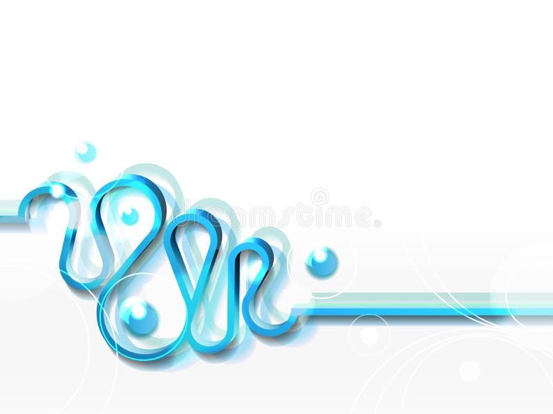 Fond horizontal avec le ruban bleu illustration stock