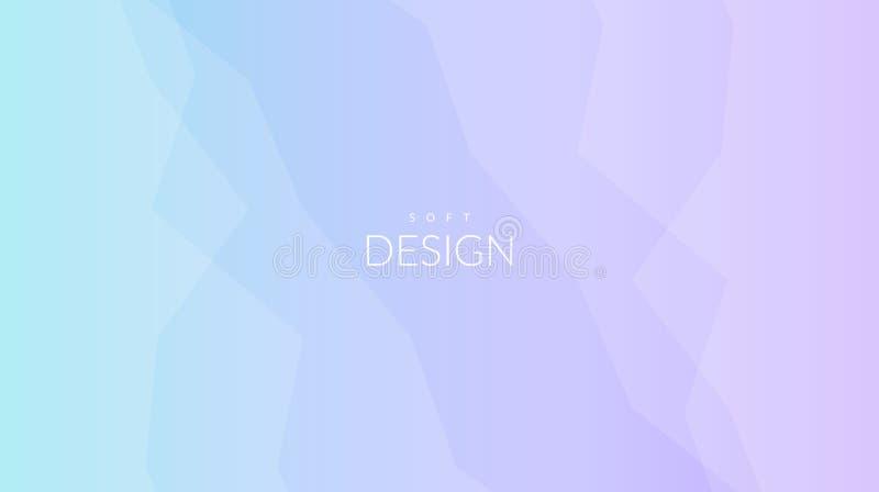 Fond horizontal brouillé de gradient doux de couleur illustration stock