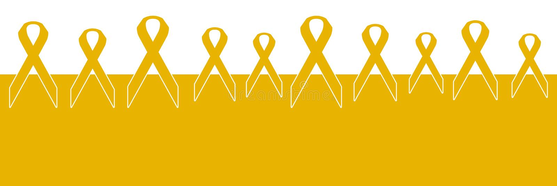 Fond horizontal de rubans de Cancer d'enfance illustration stock