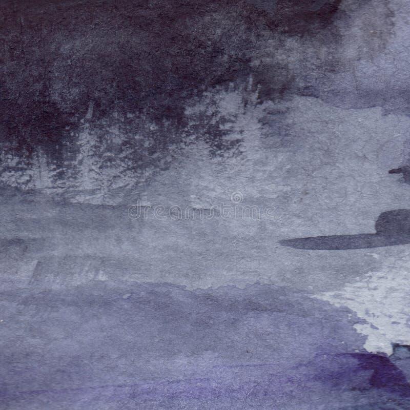 Fond humide de texture d'asphalte de pluie grise grise de noir de bleu marine d'aquarelle illustration de vecteur