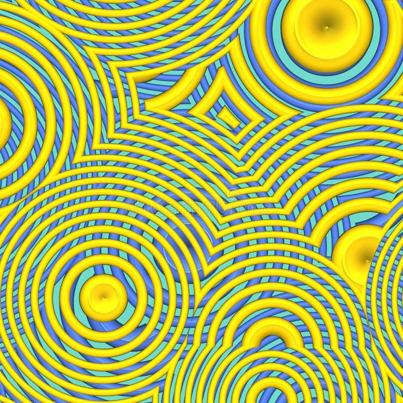 Fond hypnotique illustration de vecteur