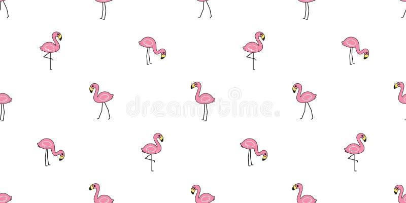 Fond IL de tuile de papier peint de répétition d'isolement par écharpe exotique animale sans couture de personnage de dessin anim illustration stock
