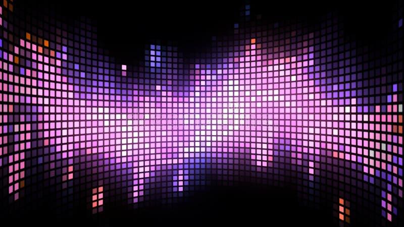 Fond incurvé de caisson lumineux de danse illustration de vecteur