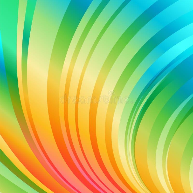Fond incurvé rayé multicolore illustration libre de droits