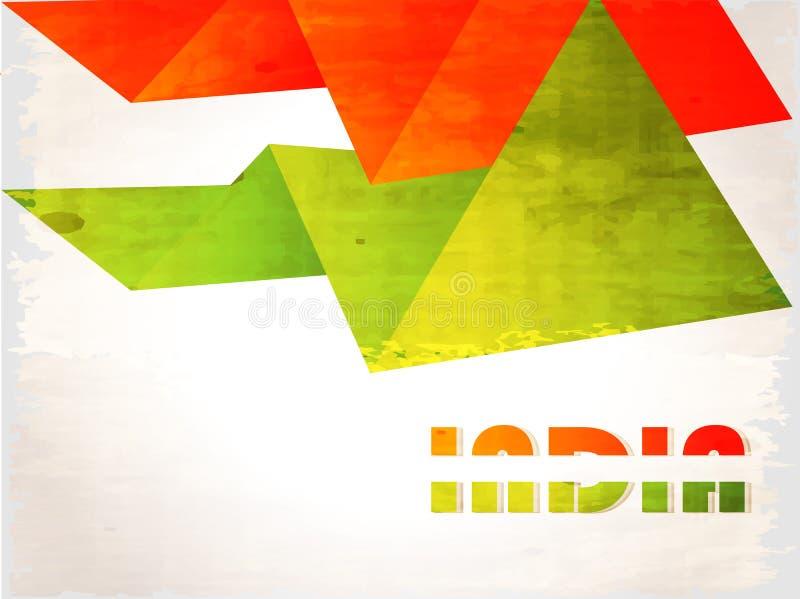 Fond indien de drapeau avec le chakra d'Asoka sur le blanc illustration de vecteur