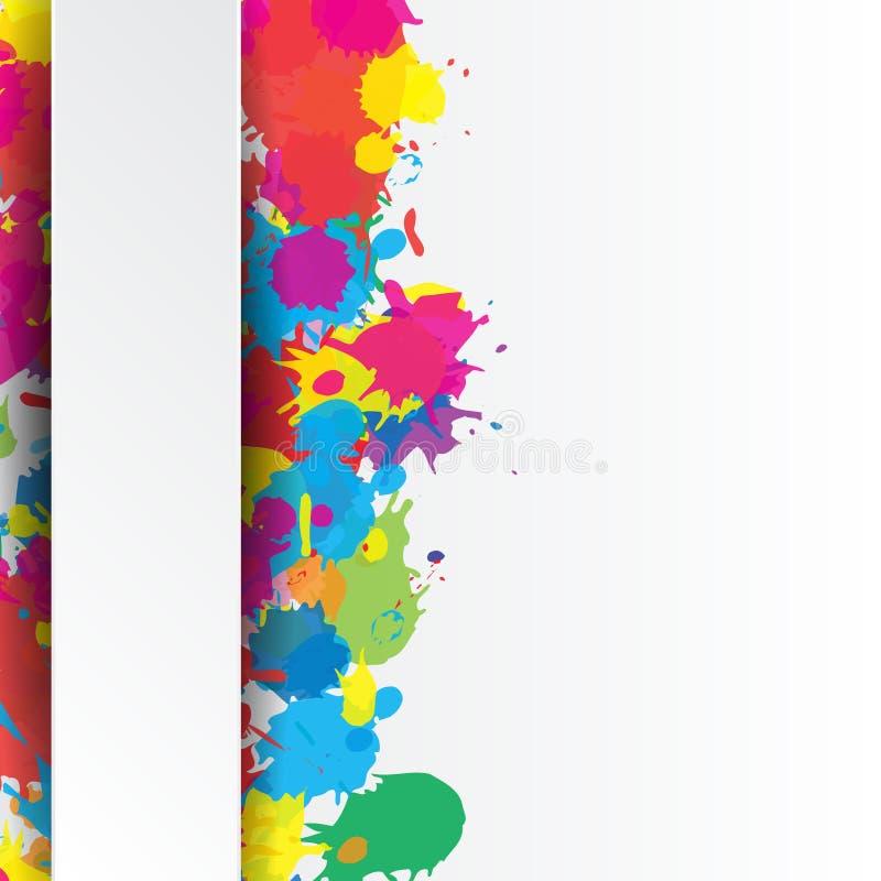 Fond indien de festival avec l'éclaboussure de couleurs illustration de vecteur