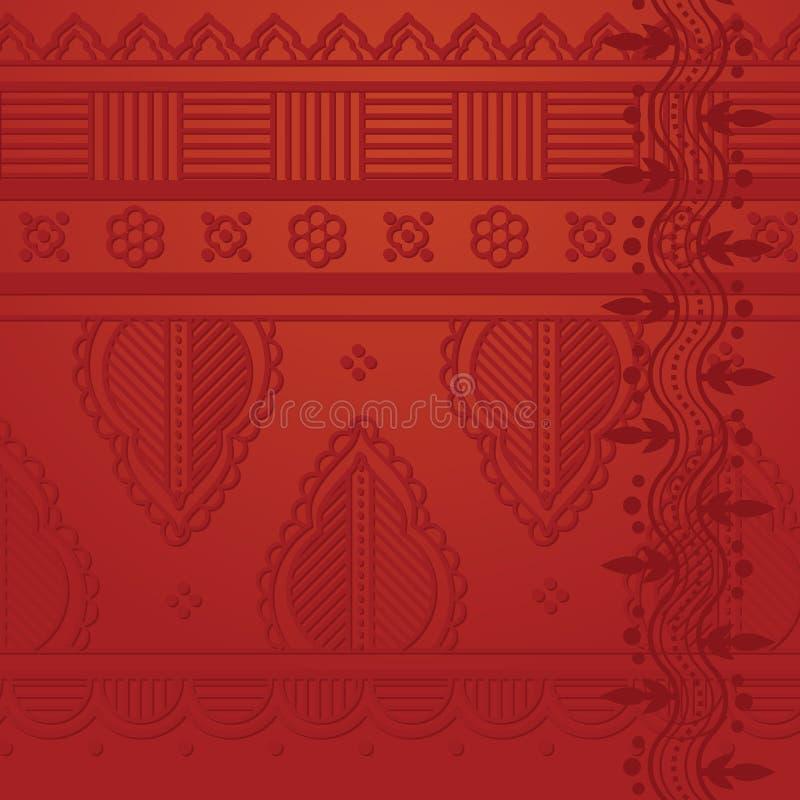 Fond indien rouge illustration libre de droits