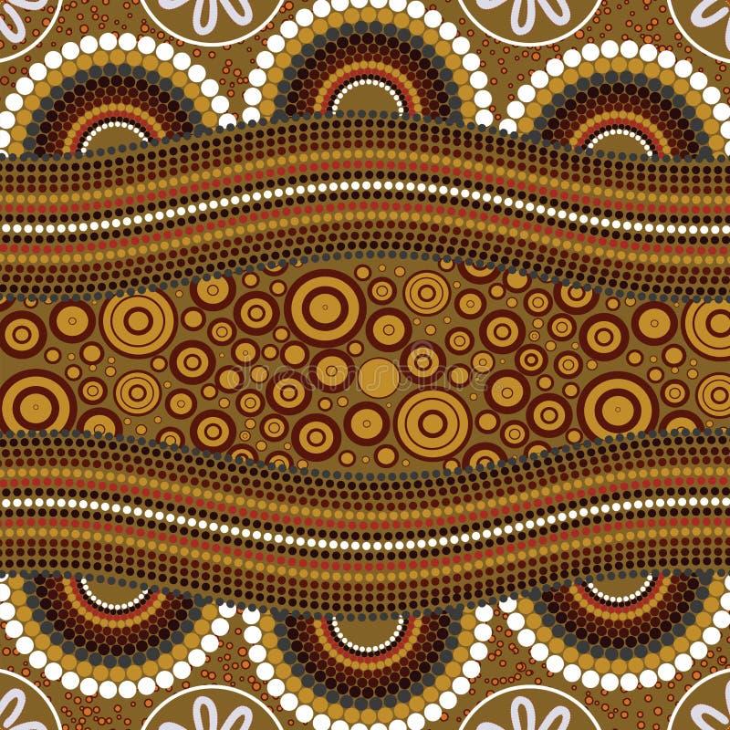 Fond indigène de vecteur d'art illustration libre de droits
