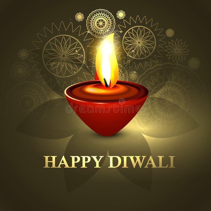 Fond indou coloré i de festival diya heureux de diwali de beau
