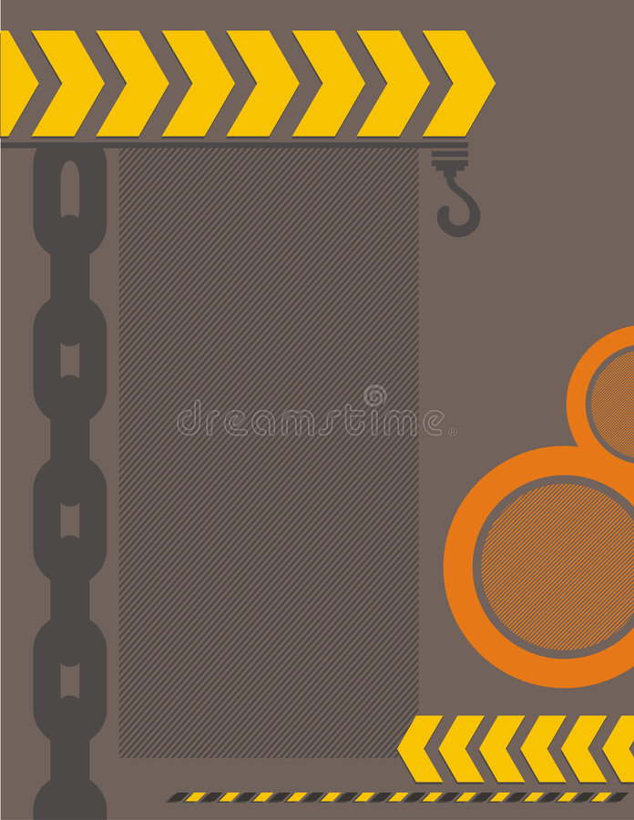 Fond industriel illustration stock