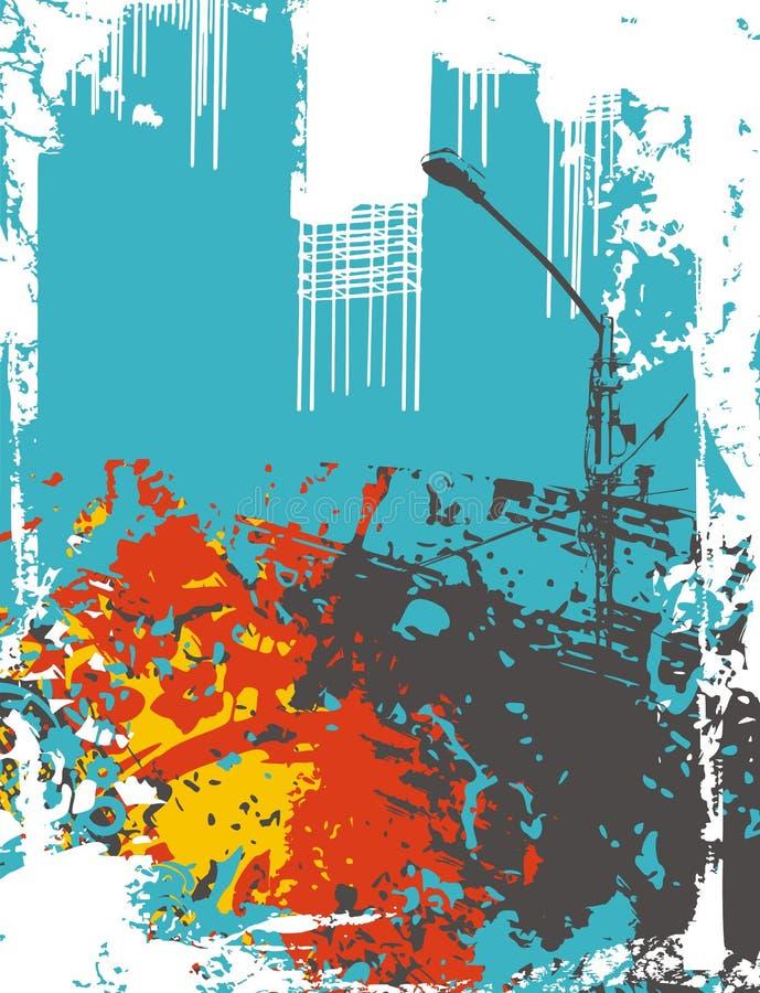 Fond industriel illustration stock