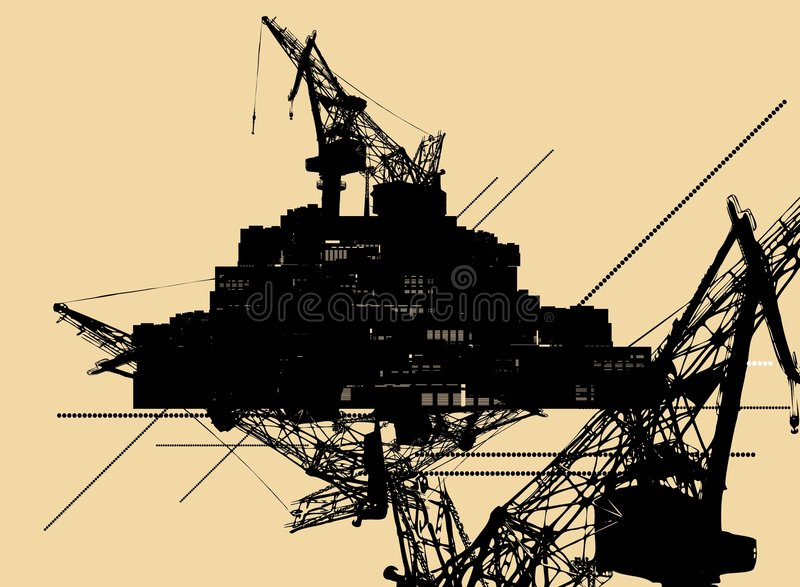 Fond industriel abstrait illustration stock