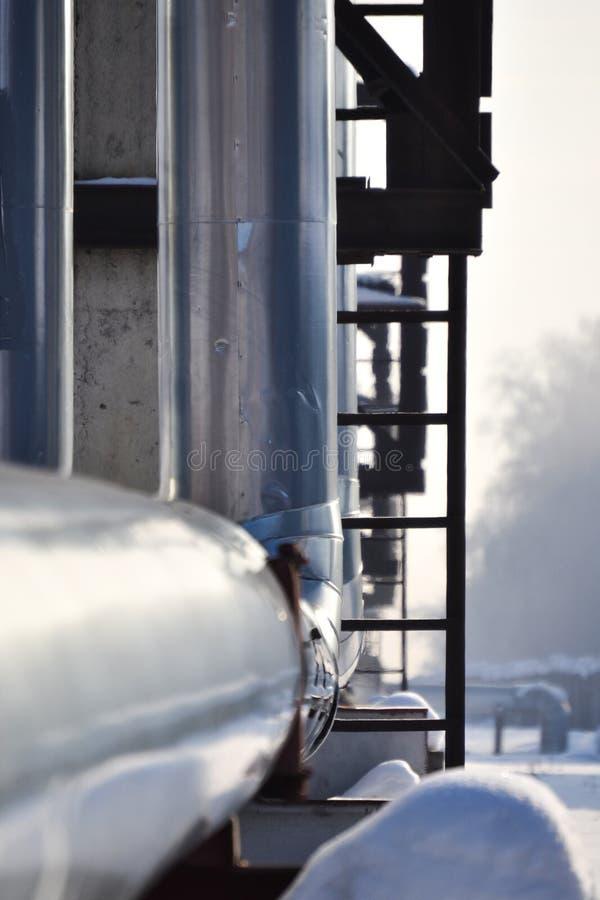 Fond industriel abstrait L'hiver Russie photos stock