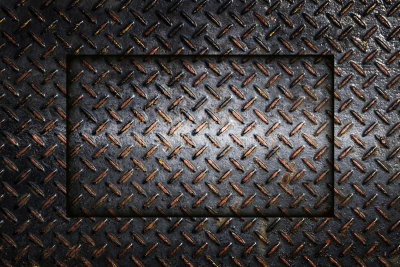 Fond industriel d'abrégé sur plat de diamant en métal photo stock