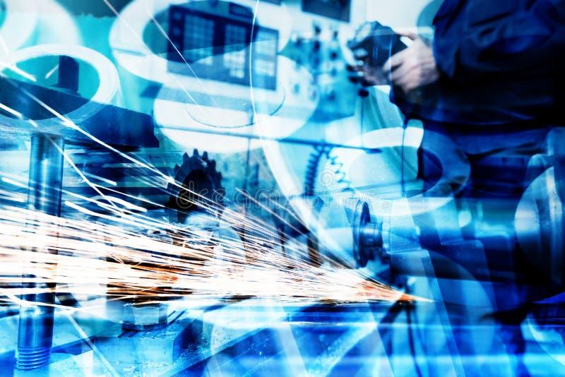 Fond industriel d'abrégé sur technologie Industrie image stock