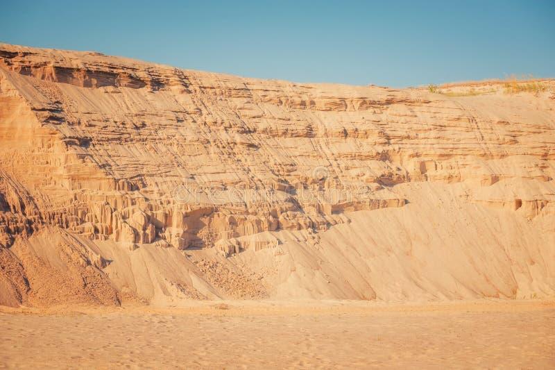 Fond industriel de carrière de sable photographie stock libre de droits