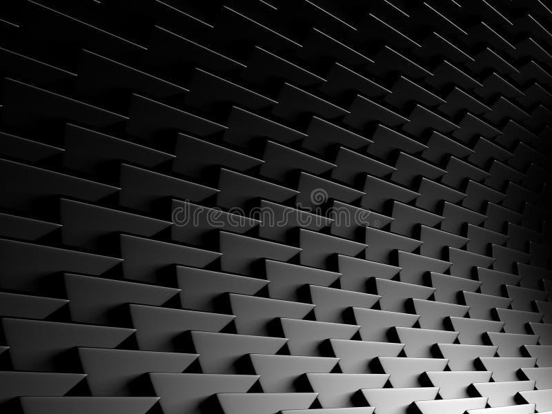 Fond industriel de modèle argenté métallique foncé de triangle illustration stock