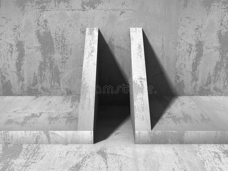 Fond industriel moderne d'architecture concrète abstraite images stock