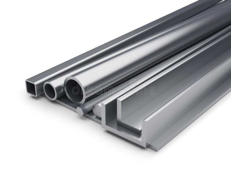 Fond industriel roulé en métal illustration stock