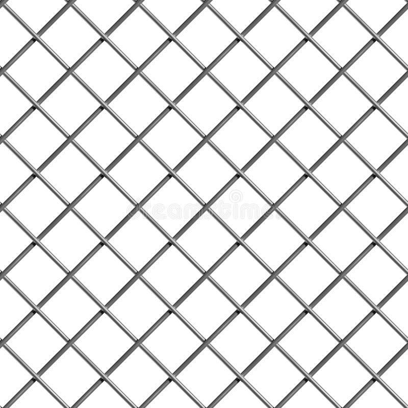 Fond industriel sans couture net en acier de fil tressé illustration libre de droits