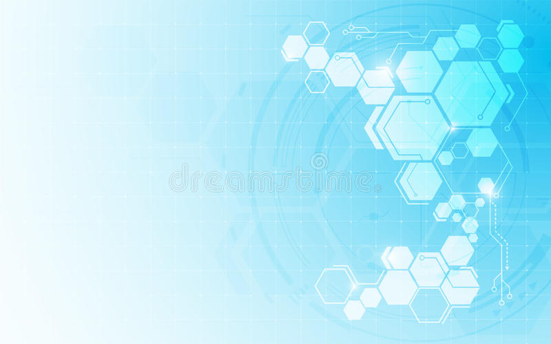 Fond innovateur de concept d'hexagone de technologie numérique abstraite de modèle illustration de vecteur