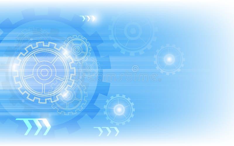 Fond innovateur de technologie abstraite de vecteur illustration libre de droits
