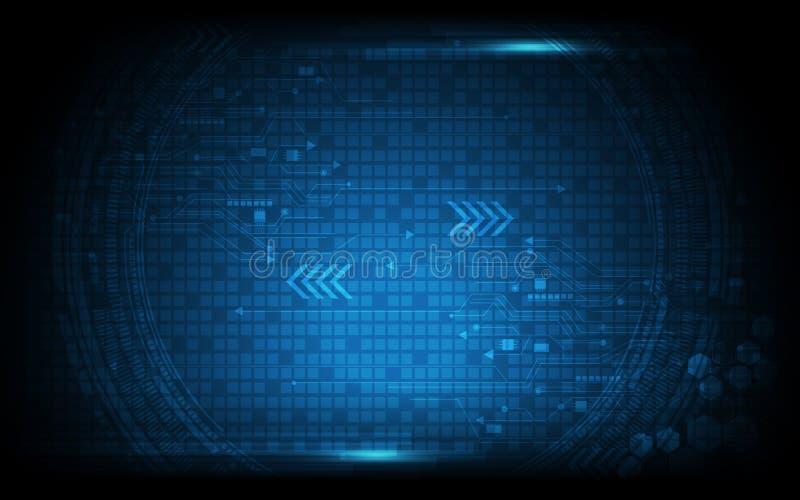 Fond innovateur de technologie numérique de modèle de vecteur illustration stock