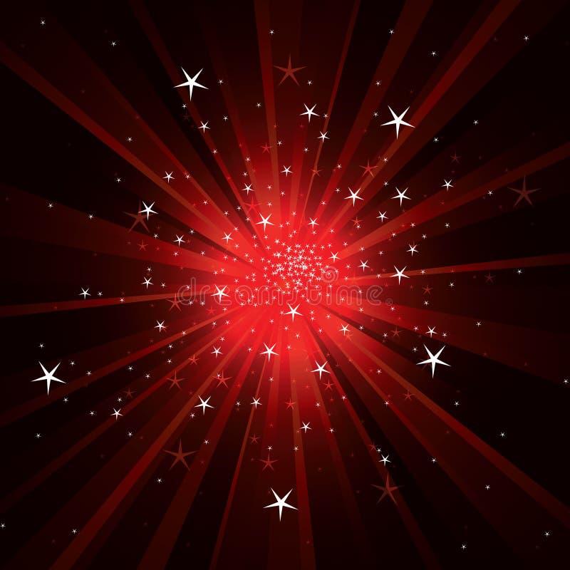 Fond instantané avec les rayons légers et les étoiles illustration stock