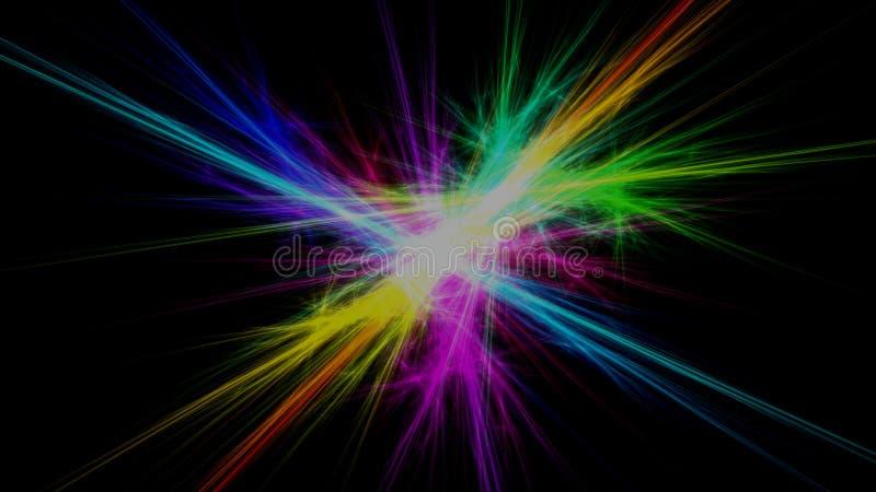 Fond instantané de rayons légers de fractale illustration stock