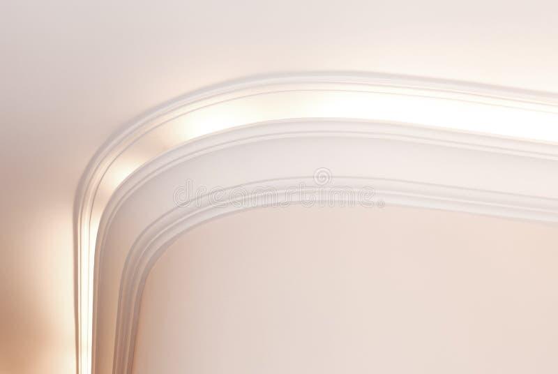 Corniche lumineuse, fond intérieur lumineux photographie stock