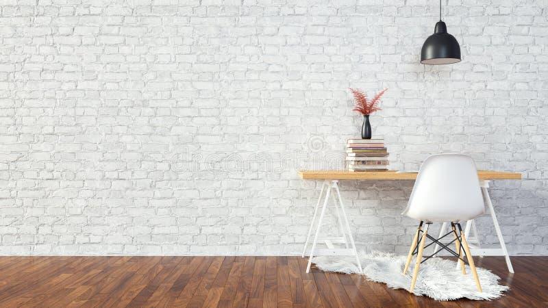Fond intérieur de pièce blanche illustration libre de droits