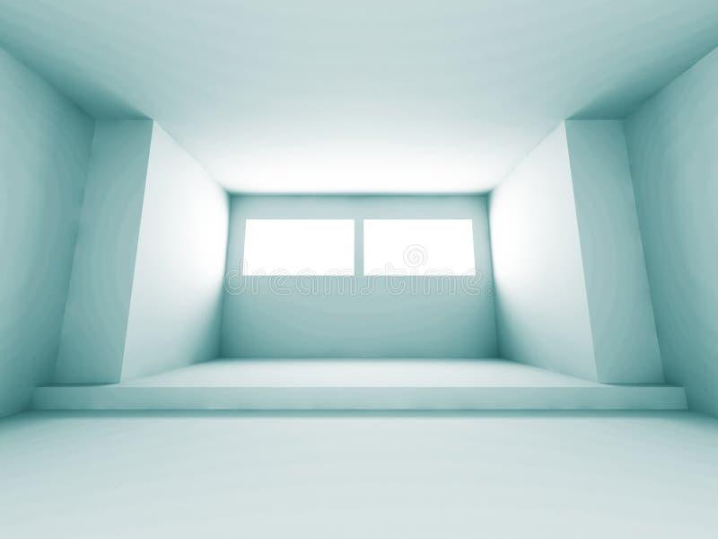 Fond intérieur de pièce de conception futuriste d'architecture illustration de vecteur