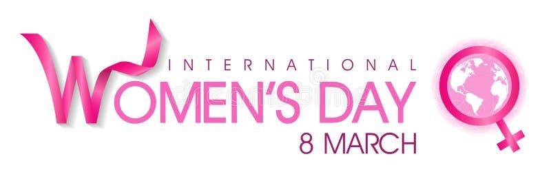 Fond international de jour du ` s de femmes le 8 mars illustration stock