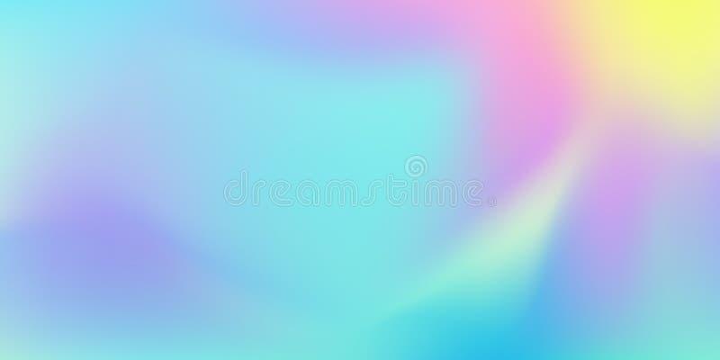 Fond iridescent de mélange de couleur, modèle liquide abstrait Fond olographe de mélange de gradient de couleurs de vecteur illustration libre de droits