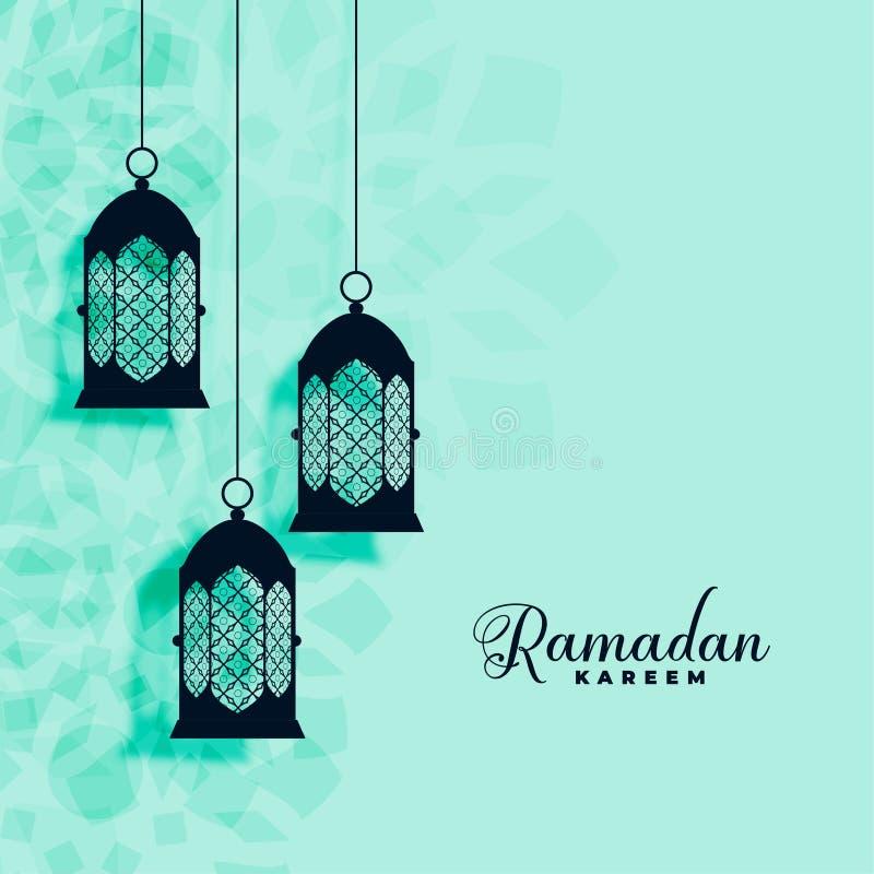 Fond islamique accrochant de kareem de Ramadan de d?coration de lampes illustration libre de droits