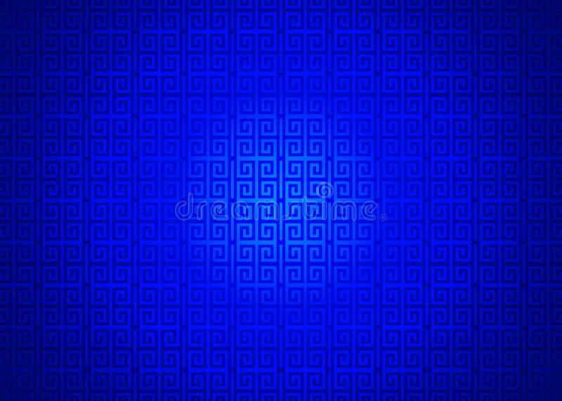 Fond islamique arabe chinois ornemental oriental bleu-foncé de texture de modèle Imlek Ramadan Festival Wallpaper illustration libre de droits