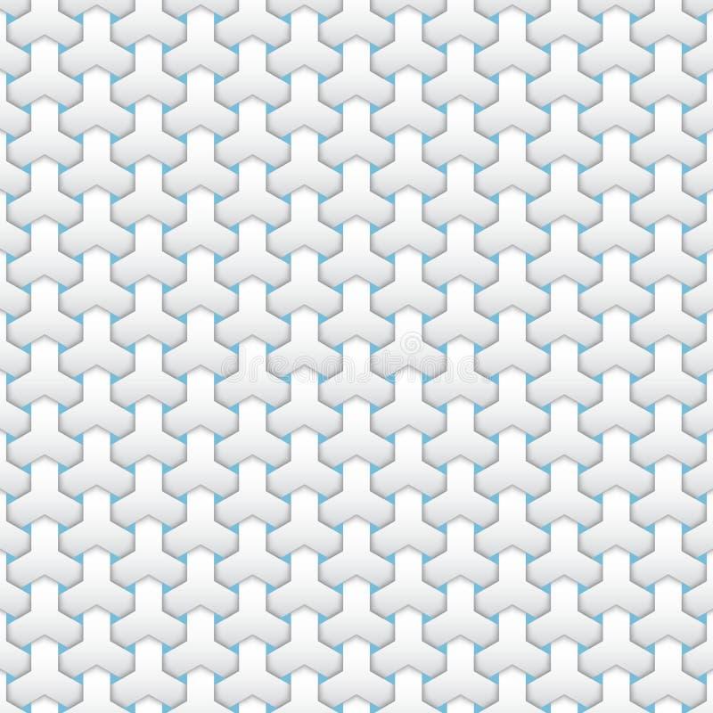 Fond islamique géométrique abstrait de vecteur Basé sur les ornements musulmans ethniques Rayures de papier entrelacées illustration stock