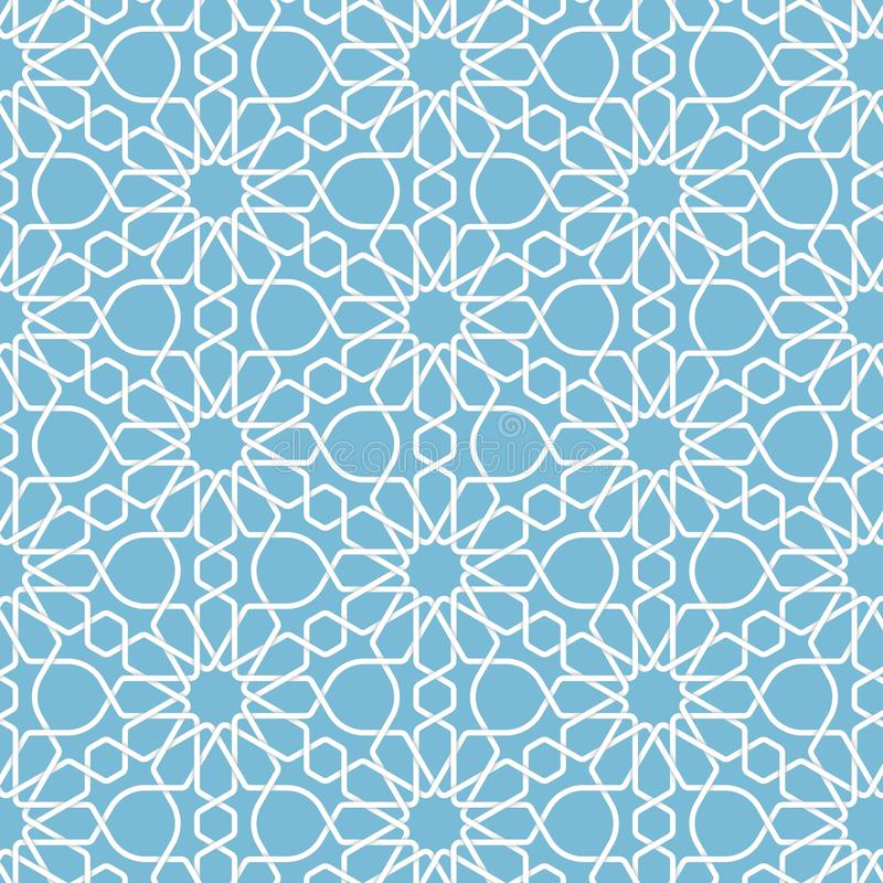 Fond islamique géométrique abstrait de vecteur Basé sur les ornements musulmans ethniques Rayures de papier entrelacées illustration de vecteur