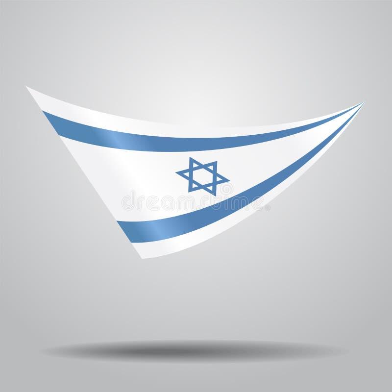 Fond israélien de drapeau Illustration de vecteur illustration libre de droits